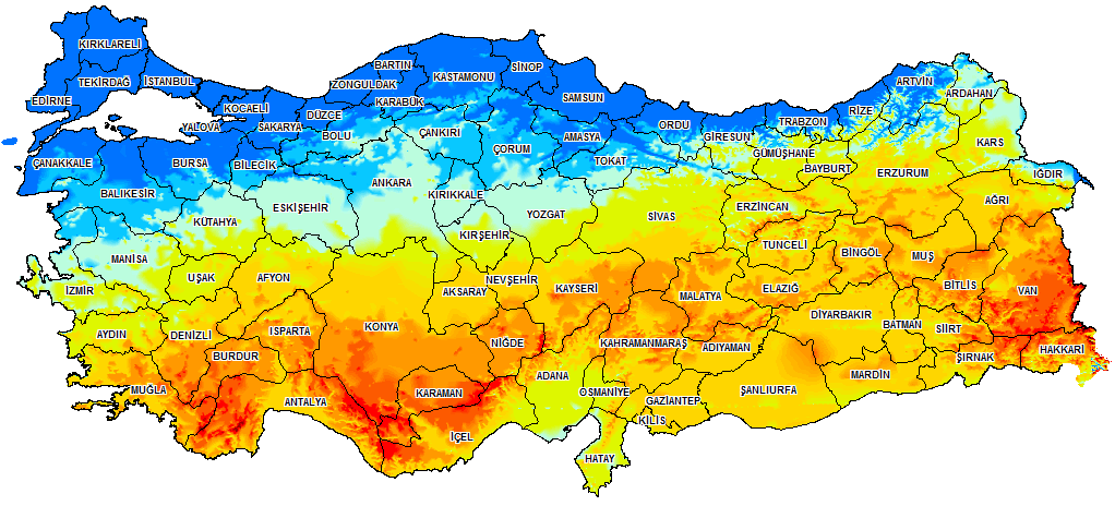 Türkiye Güneş Enerjisi Verimlilik Haritası